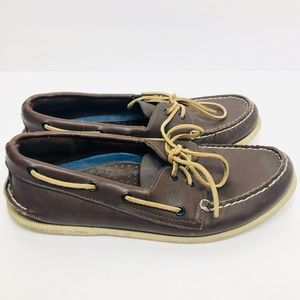 Sperry Original Brown Leather Boat Shoes